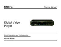 Instrukcja serwisowa Sony DVP-S530D