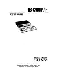 Service Manual Sony HB-900F