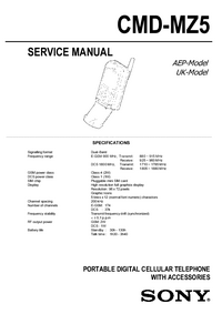 Manual de servicio Sony CMD-MZ5