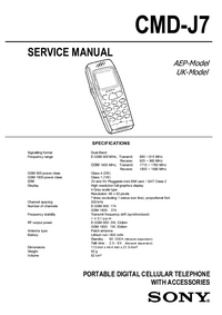 Manual de servicio Sony CMD-J7