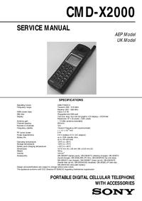Manual de servicio Sony CMD-X2000
