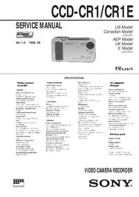 Manuale di servizio Sony CCD-CR1