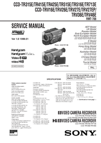 Service Manual Sony CCD-TRV27EP