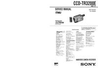 Manual de servicio Sony CCD-TR3200E