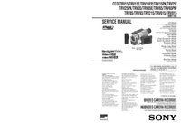 Manual de servicio Sony CCD-TRV815