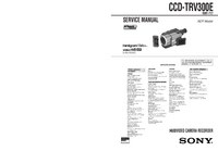 Manual de servicio Sony CCD-TRV300E