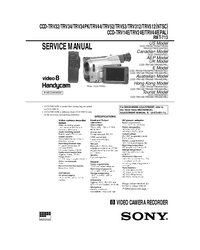 Manual de servicio Sony CCD-TRV32