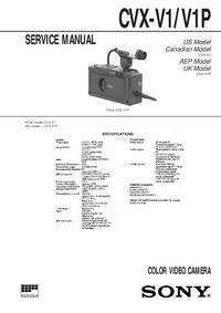 Servicehandboek Sony CVX-V1