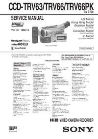 Manual de servicio Sony CCD-TRV63