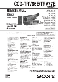 Manual de servicio Sony CCD-TRV77E