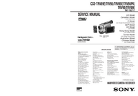 Manual de servicio Sony CCD-TRV95