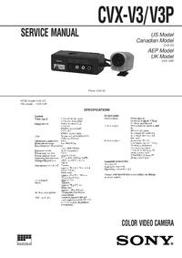 Руководство по техническому обслуживанию Sony CVX-V3