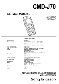 Manual de servicio SonyEricsson CMD-J70