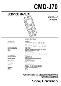 Serviceanleitung SonyEricsson CMD-J70