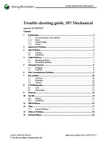 Servicehandboek SonyEricsson T628