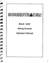 Bedienungsanleitung mit Schaltplan Soundtracs Solo Live