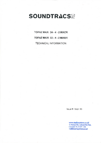 Service Manual Soundtracs Topaz Maxi 24-4-2