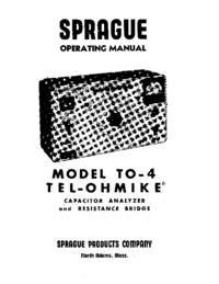 Service and User Manual Sprague TO-4