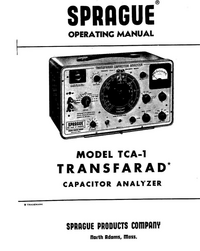 Servicio y Manual del usuario Sprague TCA-1