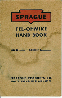 Servicio y Manual del usuario Sprague Tel-Ohmike
