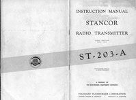 Service and User Manual Stancor ST-203-A