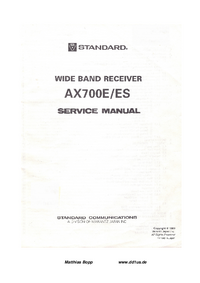 Manual de servicio Standard AX700ES