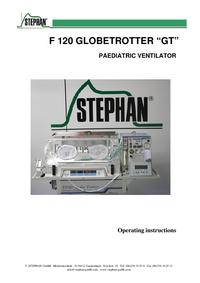 """Gebruikershandleiding Stephan F 120 GLOBETROTTER """"GT"""""""
