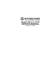 Servicio y Manual del usuario Stoelting 100C