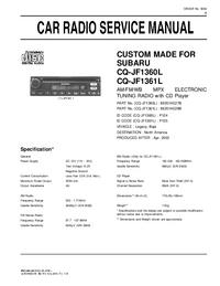 Servicehandboek Subaru CQ-JF1360L