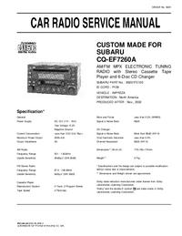 Manual de serviço Subaru CQ-EF7260A