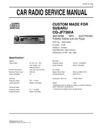 Serviceanleitung Subaru CQ-JF7360A