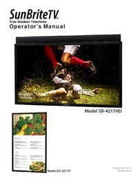 User Manual SunBrite SB-4217HD