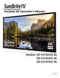 Manuale d'uso SunBrite SB-4374UHD-BL