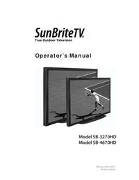 User Manual SunBrite SB-4670HD