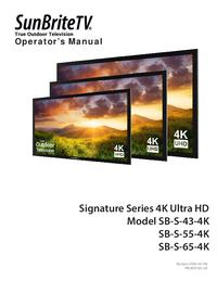 User Manual SunBrite SB-S-43-4K