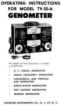 Servizio e manuale utente Superior TV-50A