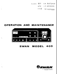 Servicio y Manual del usuario Swan 400
