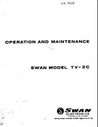 Servicio y Manual del usuario Swan TV-2C