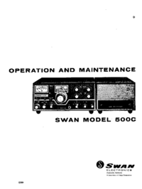 Service and User Manual Swan 500C
