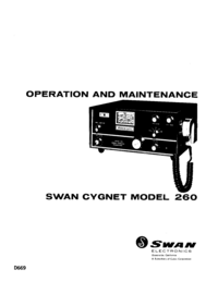 Servicio y Manual del usuario Swan 260