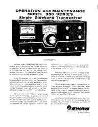 Service- und Bedienungsanleitung Swan 350 series