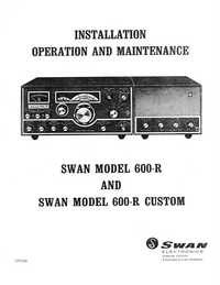 Servicio y Manual del usuario Swan 600-r Custom