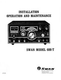 Servizio e manuale utente Swan 600-T