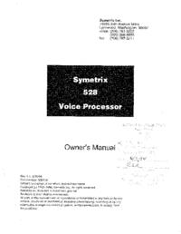 Manuale d'uso Symetrix 528