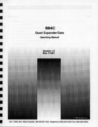 Serviço e Manual do Usuário Symetrix 564E