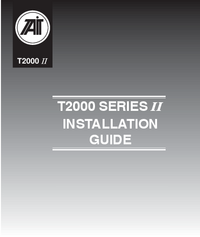 User Manual TAIT T2000 SERIES II