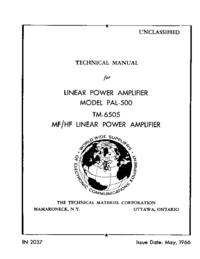 Service and User Manual TMC PAL-500