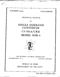 Service and User Manual TMC MSR-1