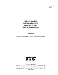 User Manual TTC 41400