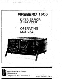 User Manual TTC Firebird 1500